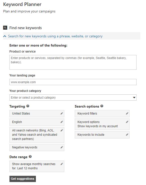 Bing Ads Tips, Tricks & Hacks - Keyword Planner