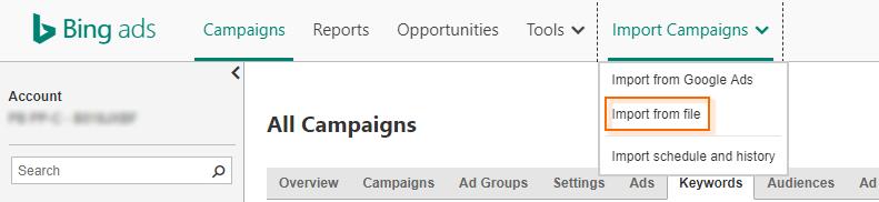 Bing Ads Tips, Tricks & Hacks - CSV Import