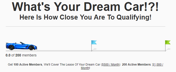 ClickFunnels Affiliate Dream Car Progress