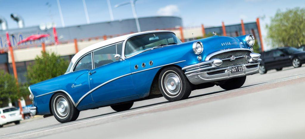 Baker's Success - Blue Vintage Car