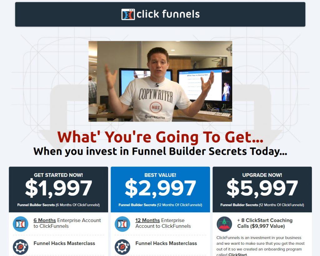 ClickFunnels Funnel Builder Secrets Page