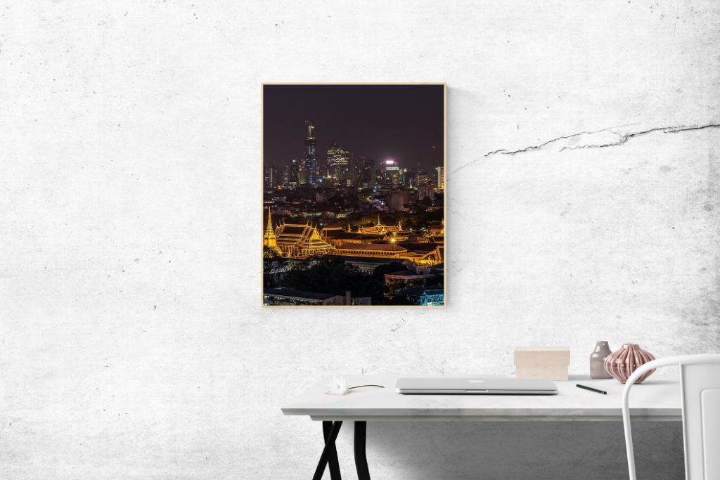 Picture of cityscape on the wall