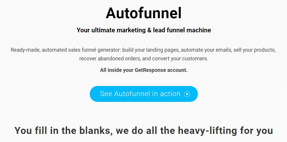 GetResponse Autofunnel Feature Information