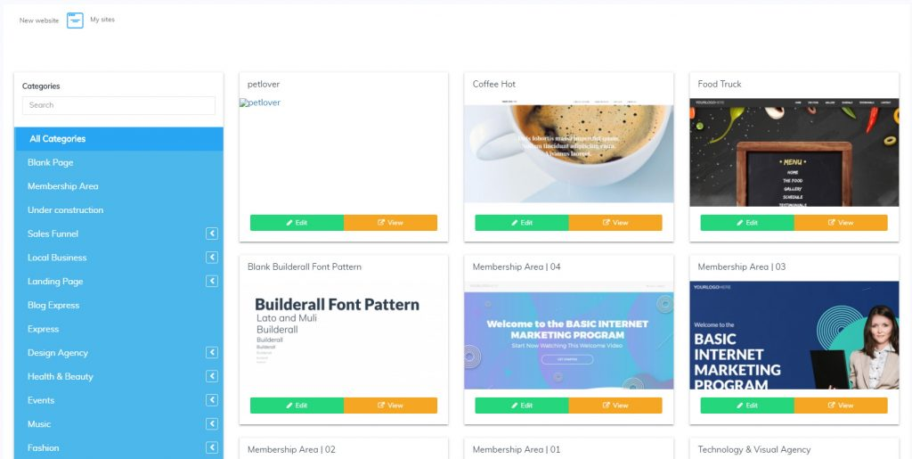 Builderall Page Builder Templates