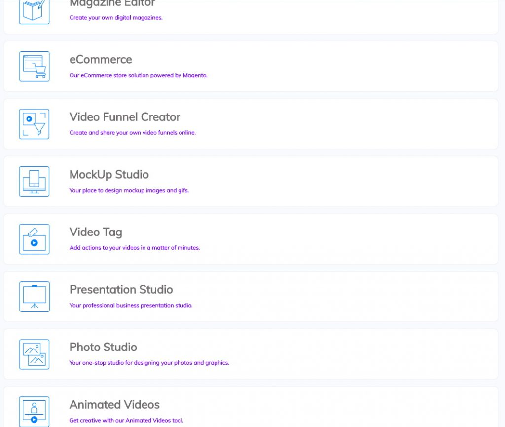 Builderall Features List