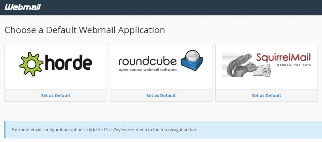 SiteGround Email Webmail Applications