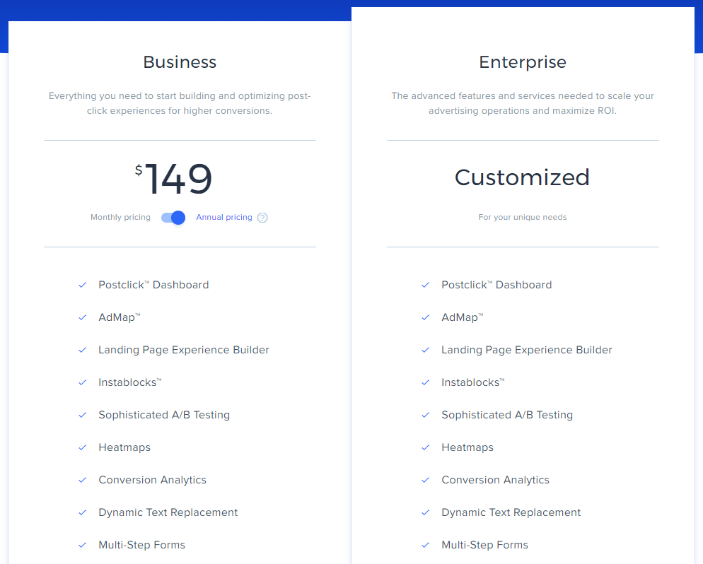 Instapage New Pricing