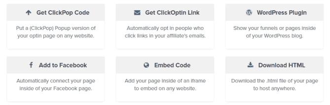 ClickFunnels Publishing Options