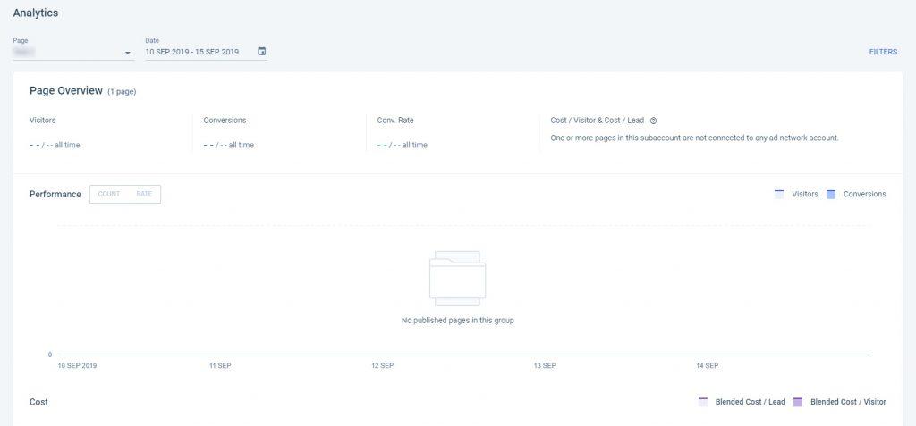 Instapage Landing Page Analytics