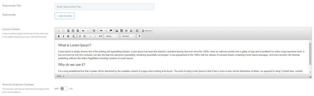 SamCart Custom Content Editor
