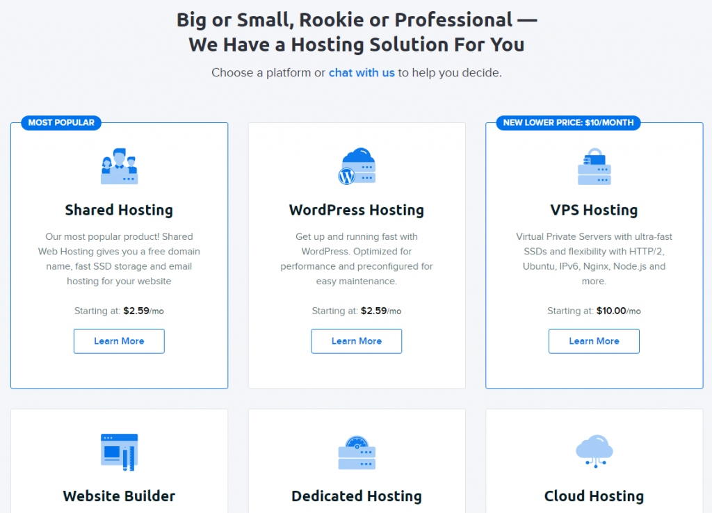 DreamHost Hosting Solutions