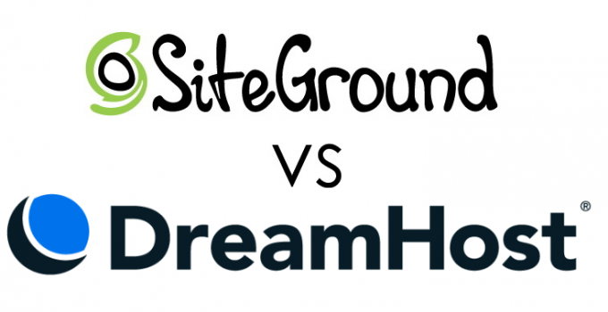SiteGround Vs. DreamHost Logos