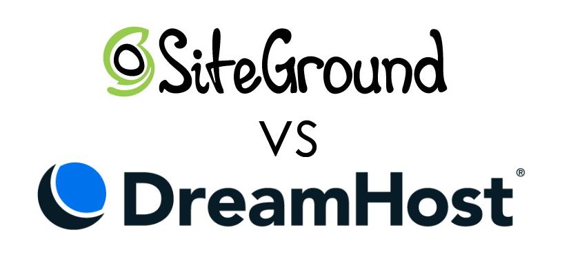 SiteGround Vs. DreamHost Logos