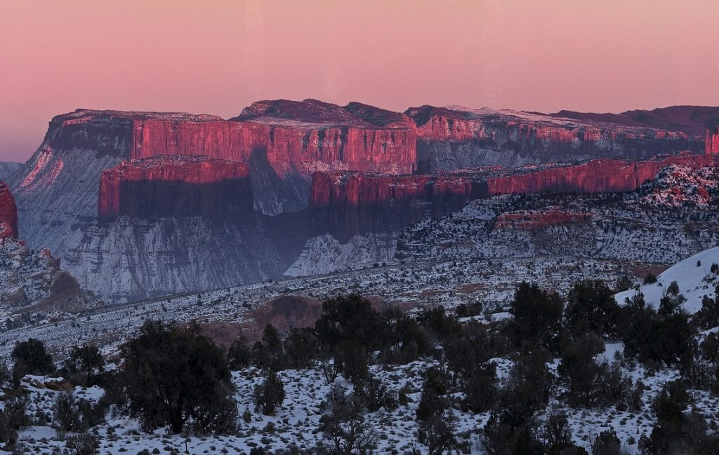 Utah Rocky Cliffs Landscape