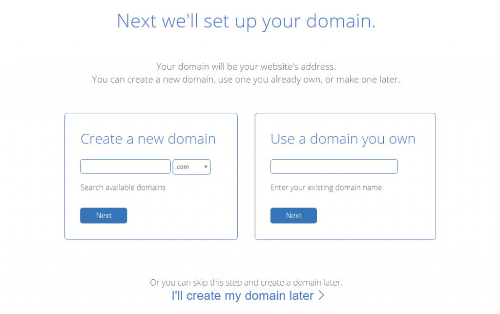 Bluehost Choose A Domain