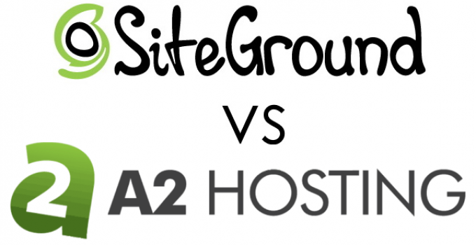 SiteGround Vs. A2 Hosting Logos