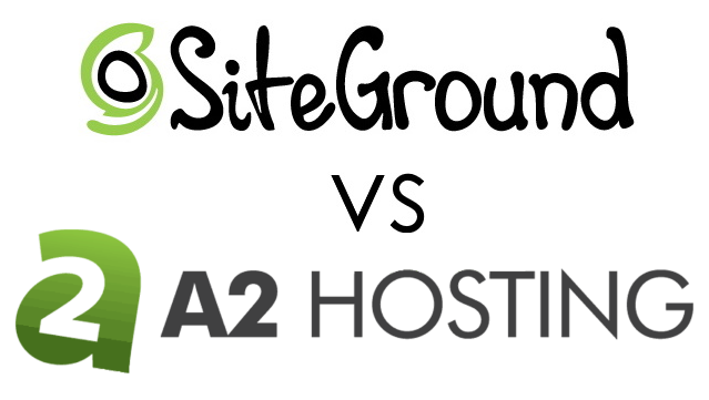 SiteGround Vs. A2 Hosting Logos