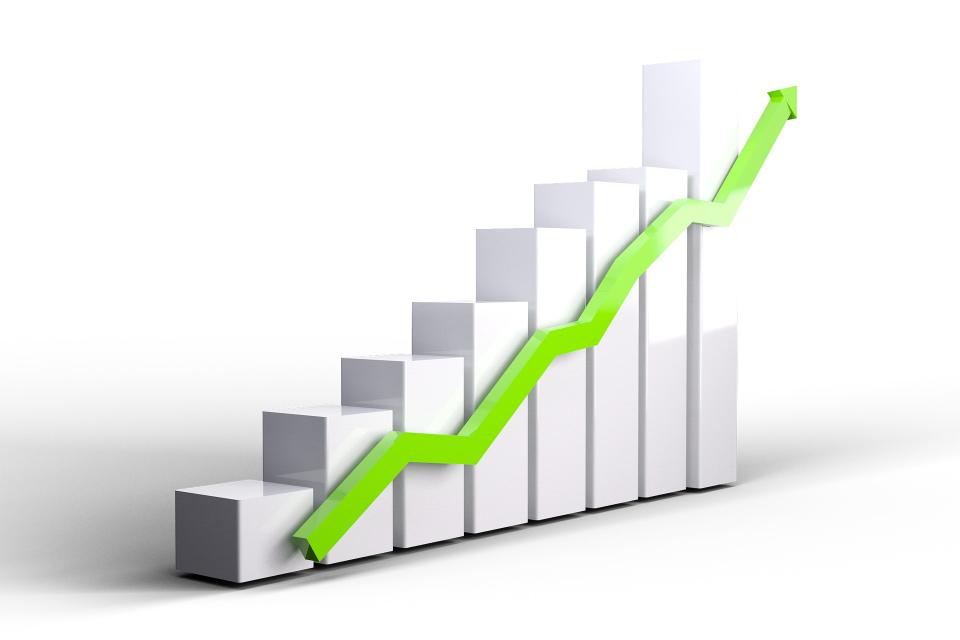 Upward progress graphic