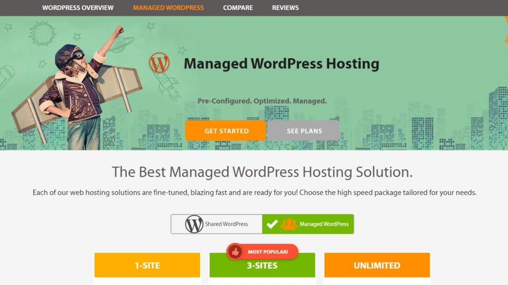 A2 Hosting Managed WordPress Hosting