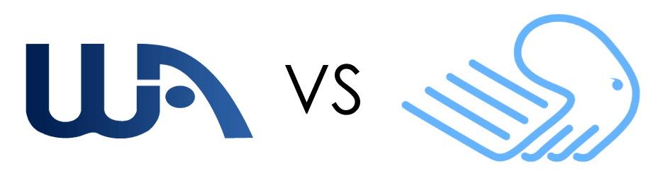 Wealthy Affiliate vs. Builderall Logos
