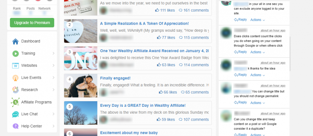 Wealthy Affiliate Community Discussions