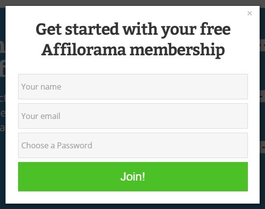 Affilorama Membership Signup Form