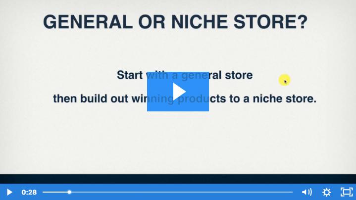 Ecom Elites General Vs. Niche Store Video