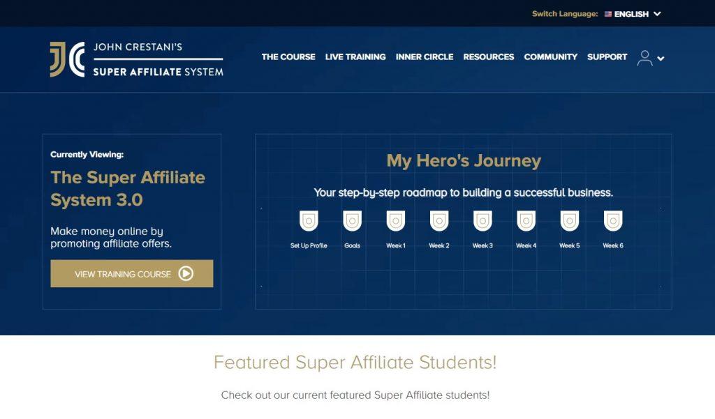 Super Affiliate System Members Area Sample 1