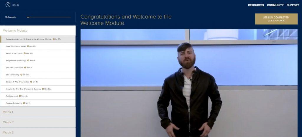 Super Affiliate System Course Modules