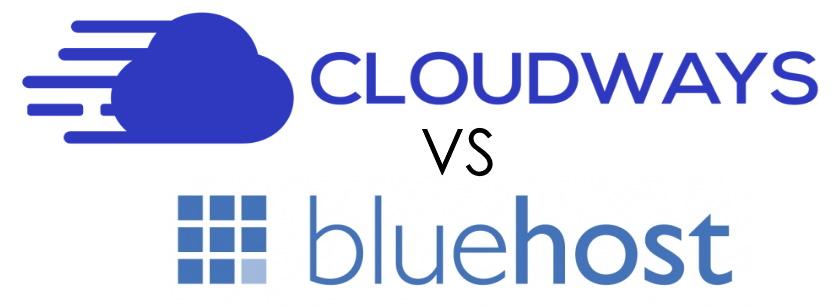 Cloudways Vs. Bluehost Logos